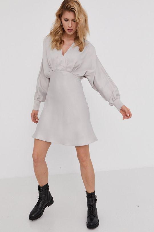 stříbrná Answear Lab - Šaty z narozeninové kolekce