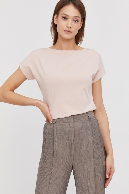 różowy Answear Lab - T-shirt Damski