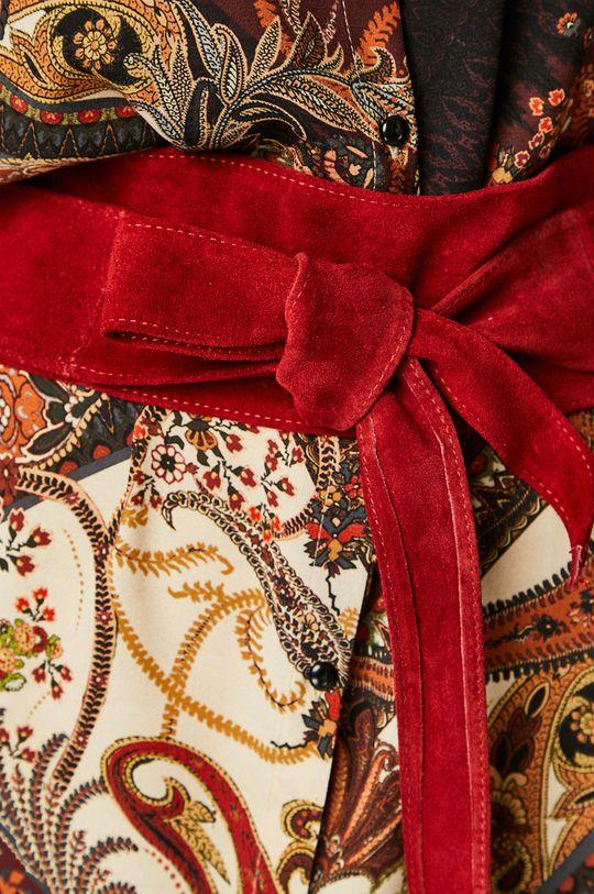 Answear - Kožený pásek kaštanová
