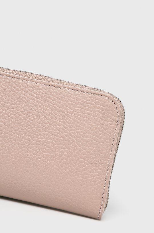 Answear Lab - Portfel skórzany pastelowy różowy