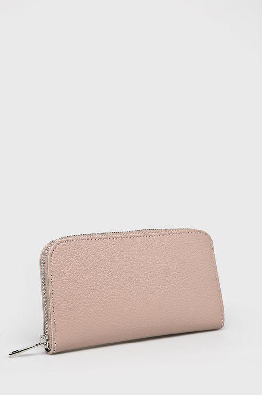 pastelowy różowy Answear Lab - Portfel skórzany