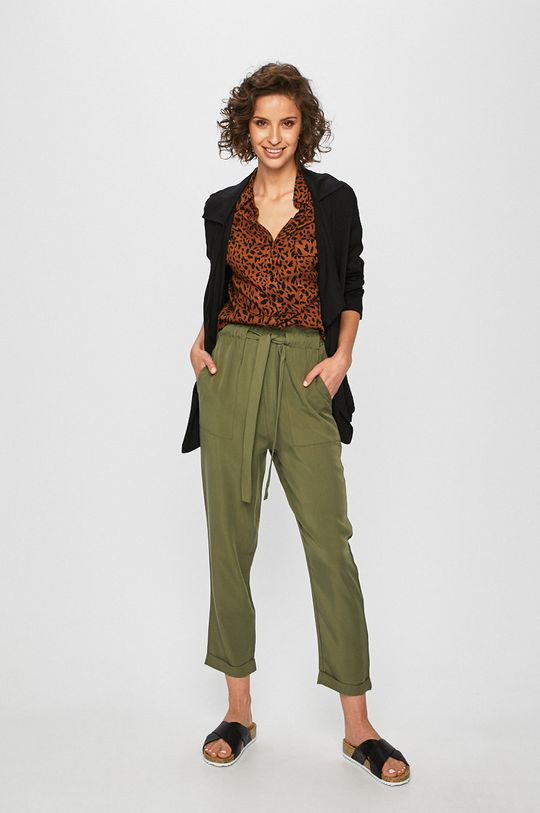 Answear - Pantaloni verde murdar