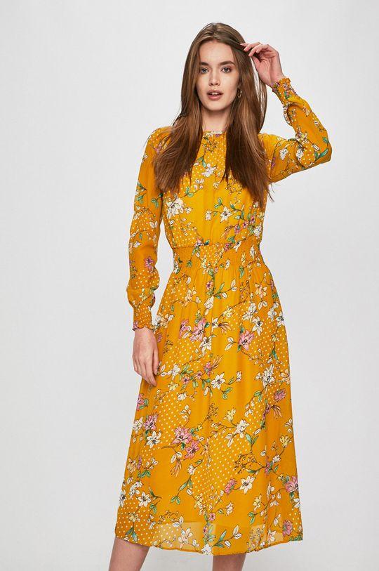 žlutá Answear - Šaty Secret Garden Dámský