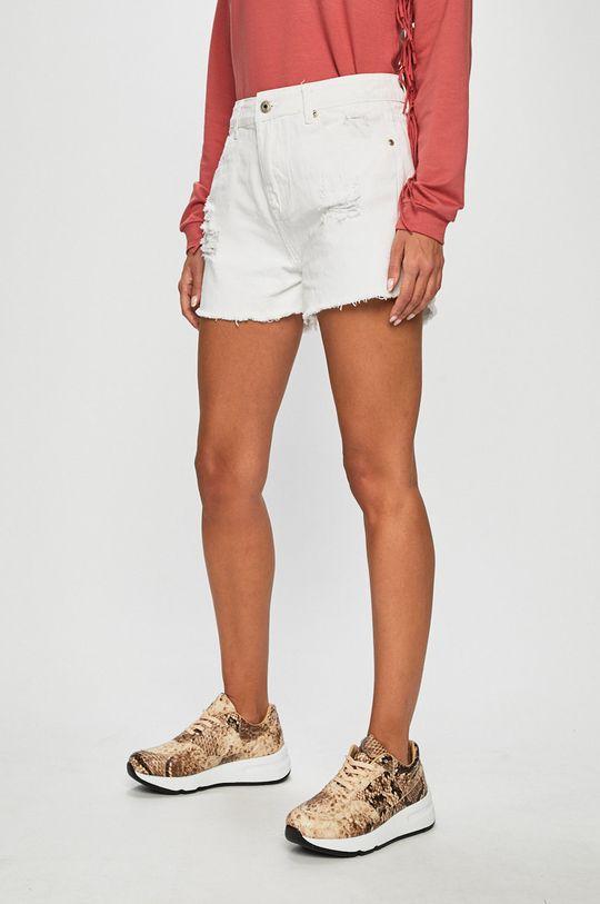 alb Answear - Pantaloni scurti jeans De femei