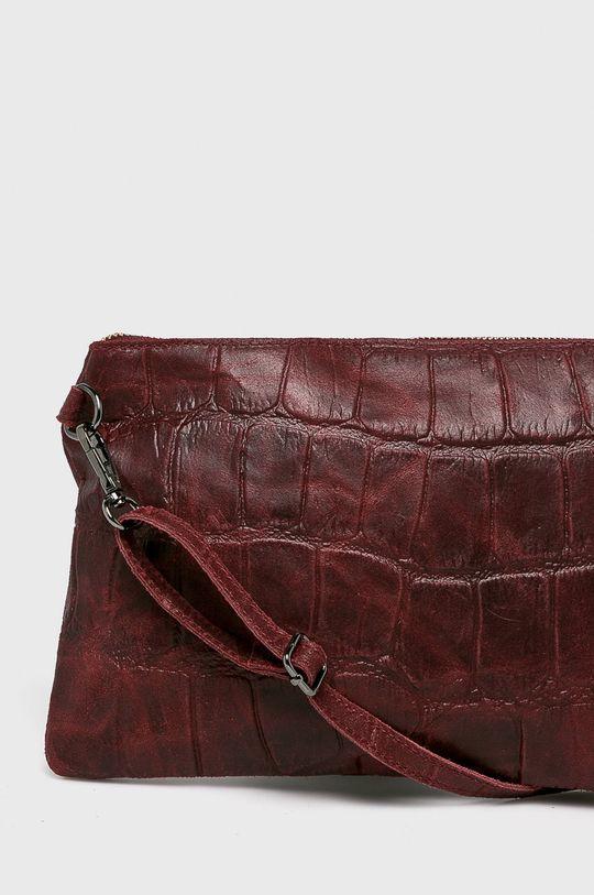 Answear - Kožená kabelka kaštanová