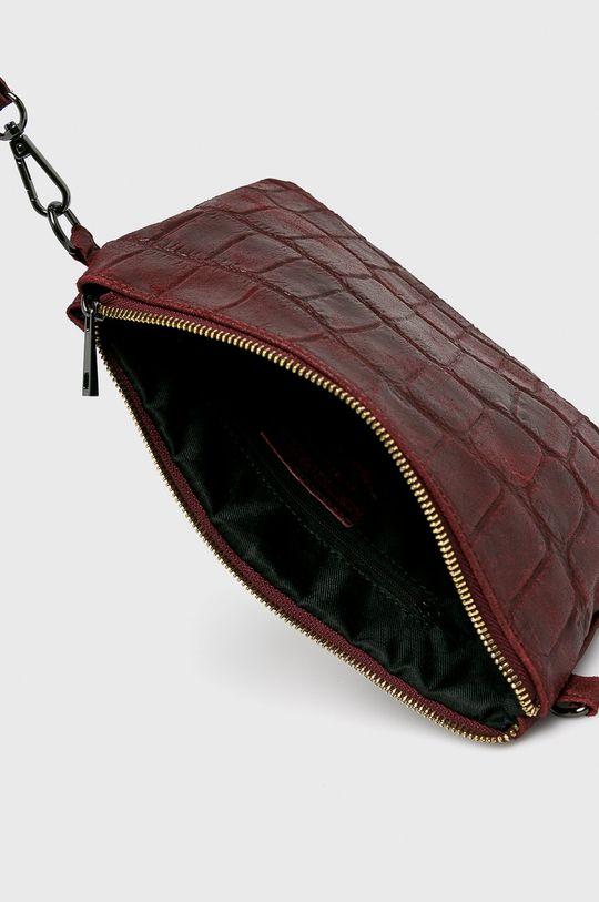 kaštanová Answear - Kožená kabelka