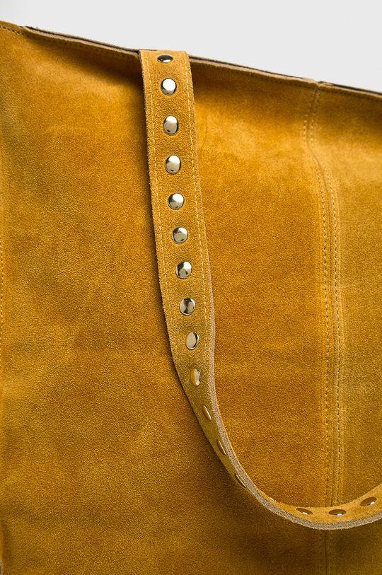 żółty Answear - Torebka skórzana