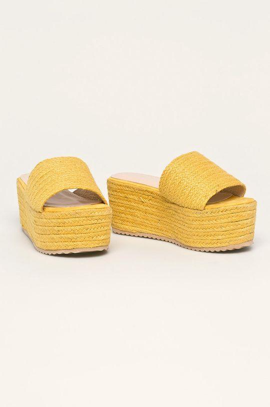 Answear - Papuci LaDonna galben