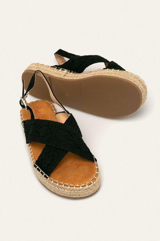 černá Answear - Sandály Best Shoes