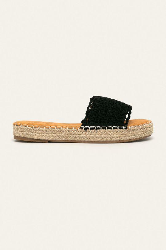 czarny Answear - Klapki Best Shoes Damski