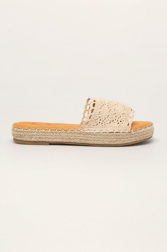 beżowy Answear - Klapki Best Shoes Damski
