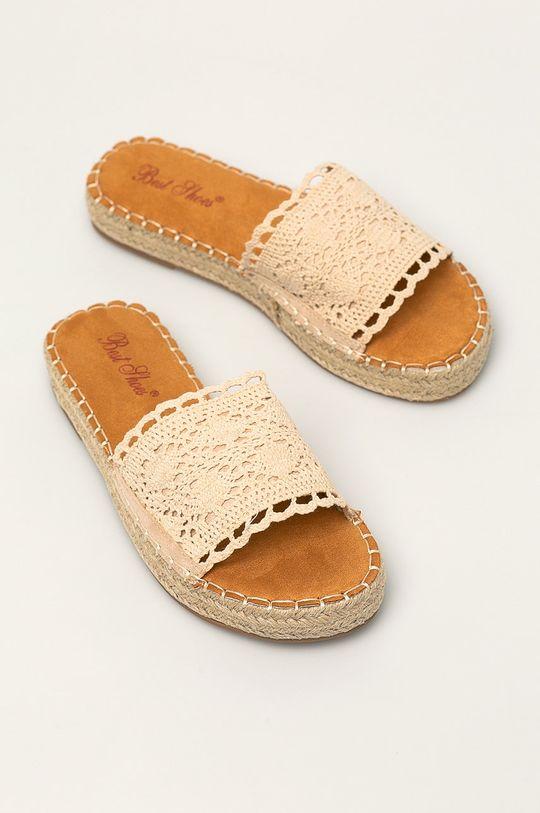 Answear - Klapki Best Shoes beżowy