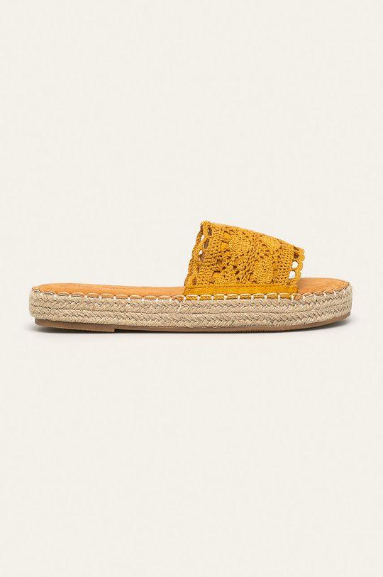 żółty Answear - Klapki Best Shoes Damski