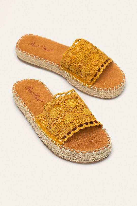 Answear - Klapki Best Shoes żółty