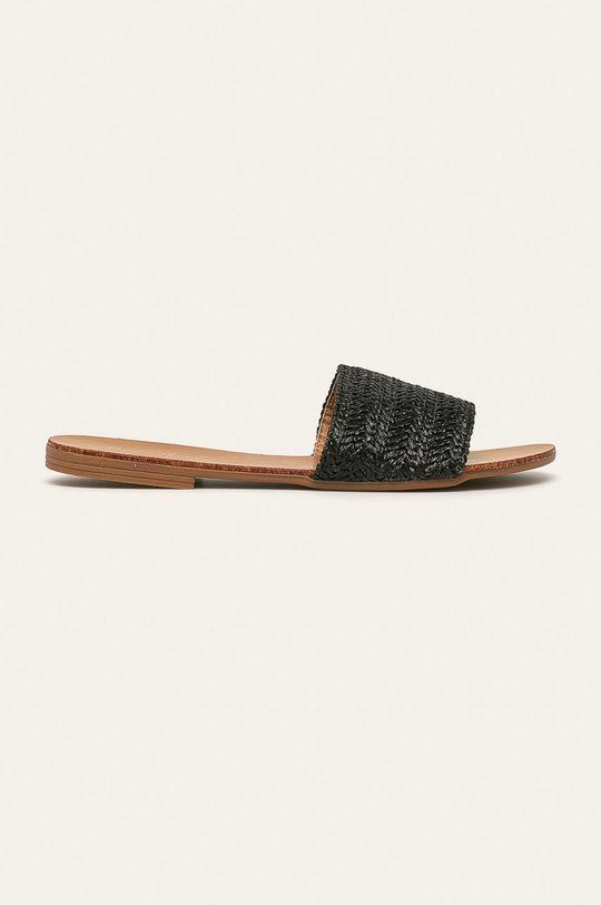 czarny Answear Lab - Klapki Best Shoes Damski