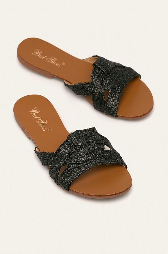 Answear - Pantofle Best Shoes černá
