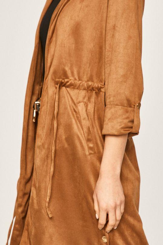 złoty brąz Answear Lab - Płaszcz