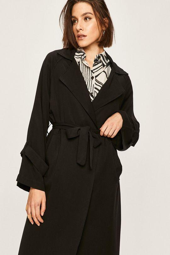 czarny Answear - Płaszcz