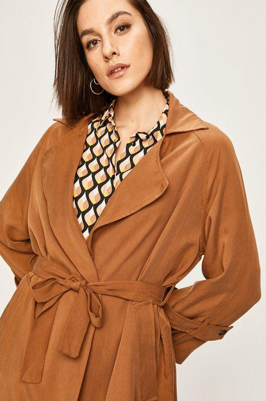 brązowy Answear Lab - Płaszcz