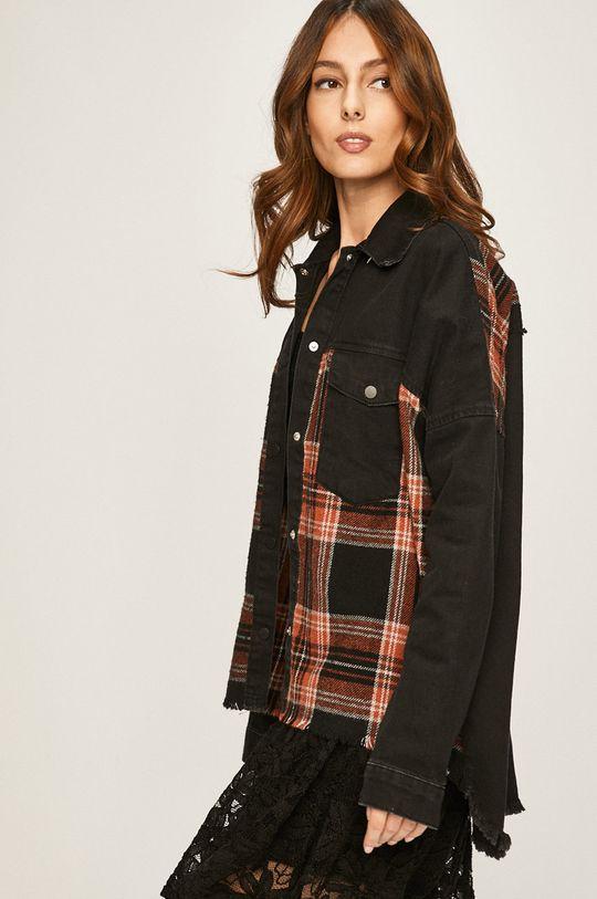 negru Answear - Geaca jeans De femei
