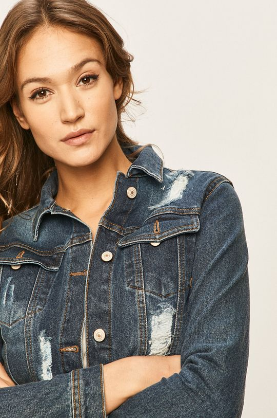 bleumarin Answear - Geaca jeans De femei