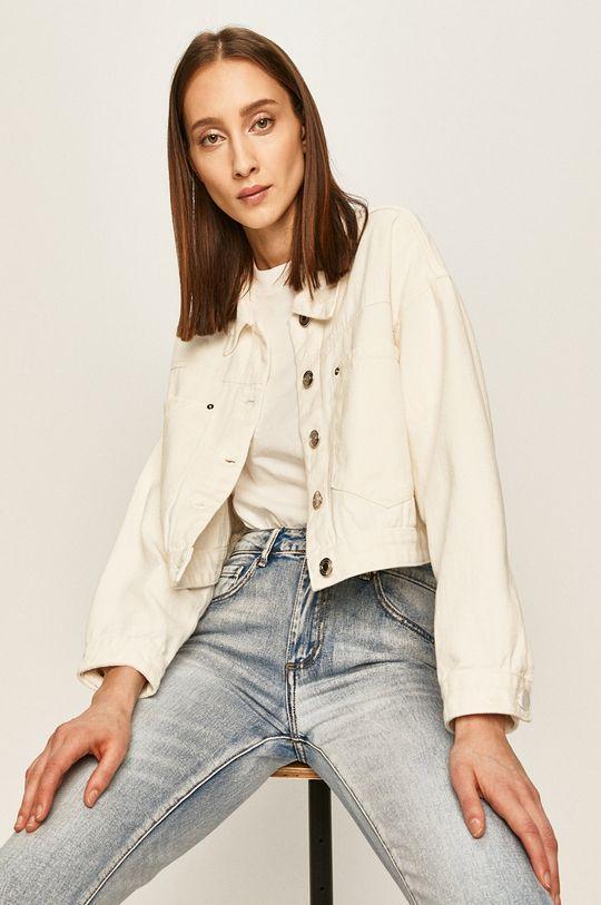 alb Answear - Geaca jeans De femei