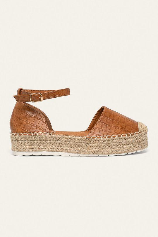 zlatohnedá Answear - Espadrilky Ideal Shoes Dámsky