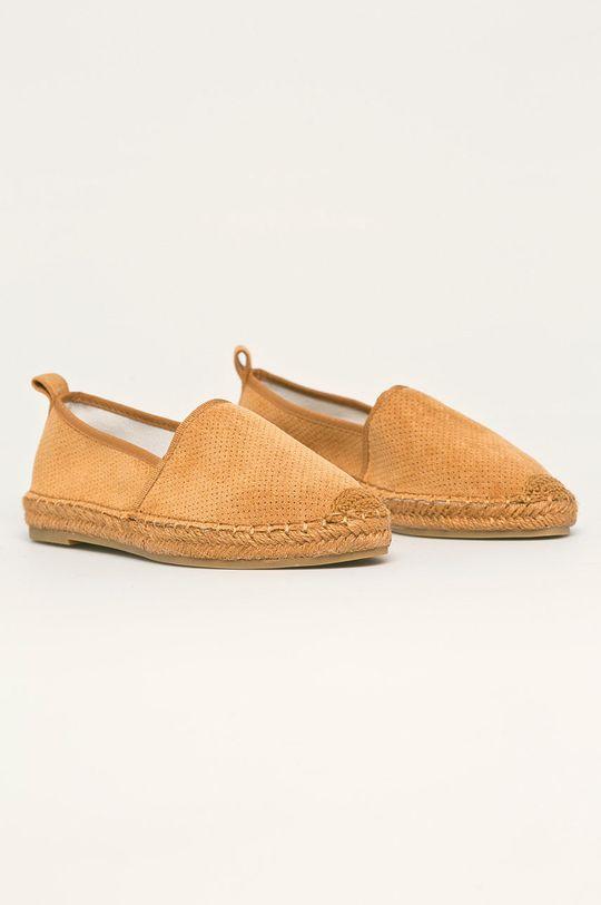 Answear - Espadrilky Best Shoes zlatohnědá