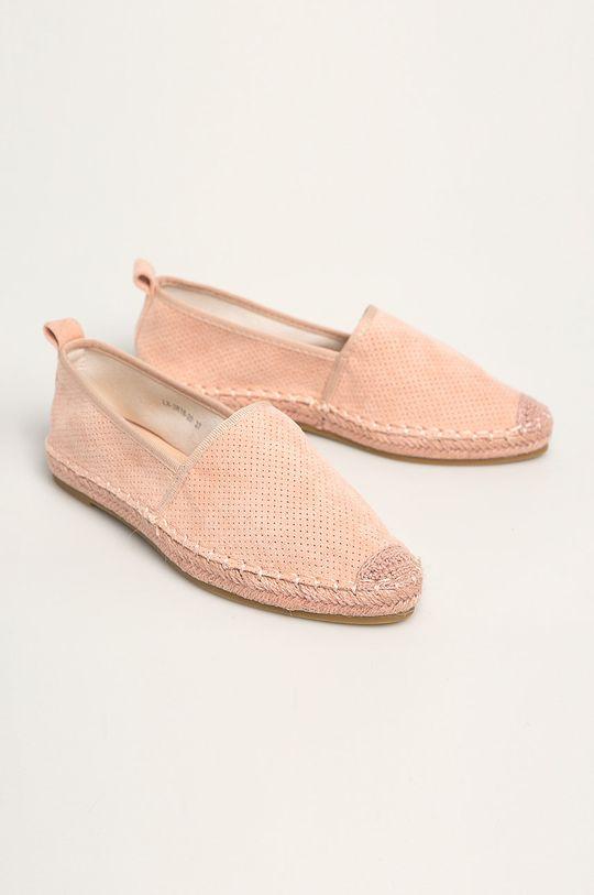 Answear - Espadrile Best Shoes roz pastelat