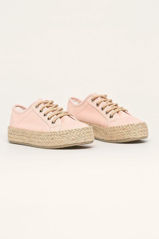Answear - Espadrile Kylie Crazy roz pastelat