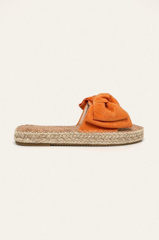 portocaliu Answear - Papuci Erynn De femei