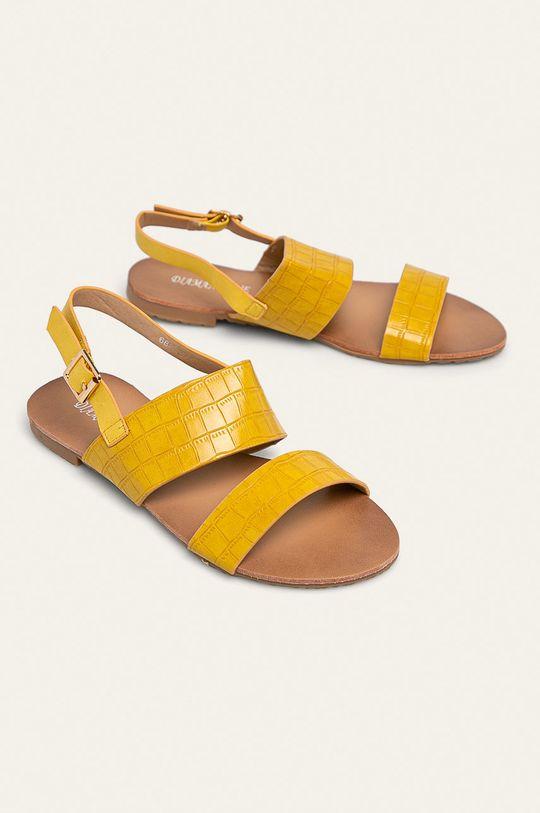 Answear - Sandále Diamantique žltá