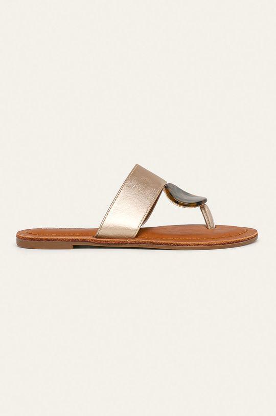 zlatá Answear - žabky Ideal Shoes Dámský