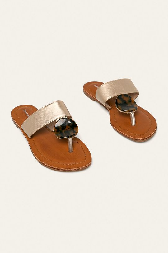 Answear - žabky Ideal Shoes zlatá