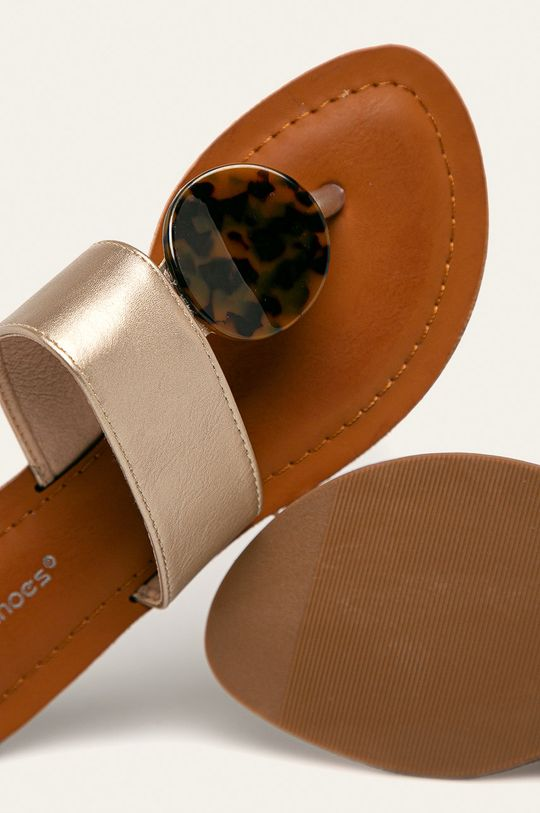 zlatá Answear - žabky Ideal Shoes