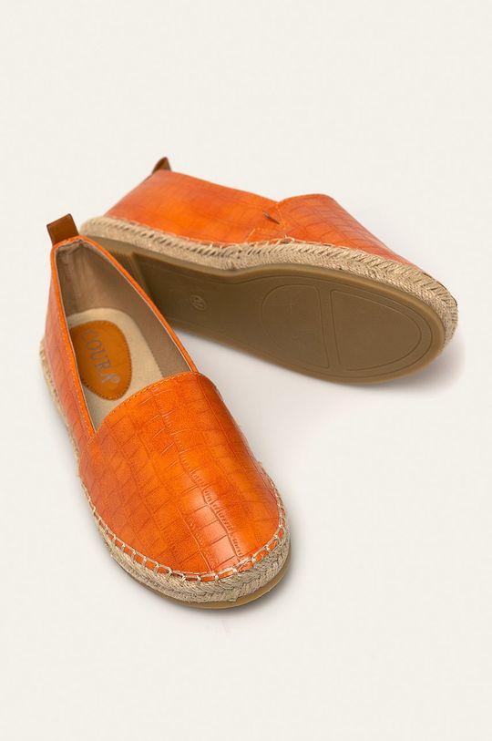 oranžová Answear - Espadrilky Coura