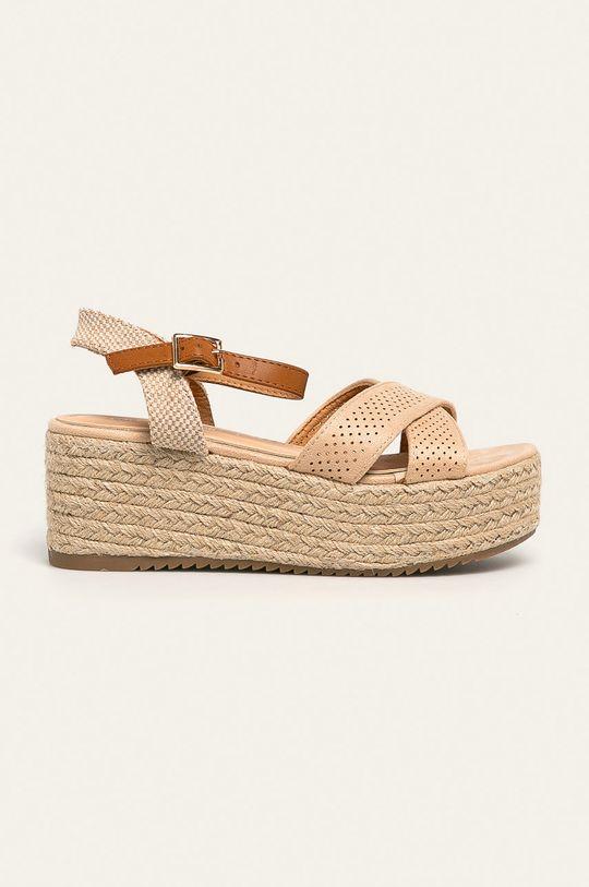 béžová Answear - Sandále Woman Key Dámsky