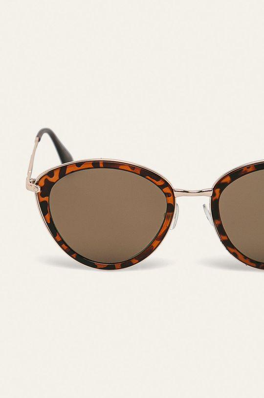 Answear - Okulary przeciwsłoneczne złoty brąz