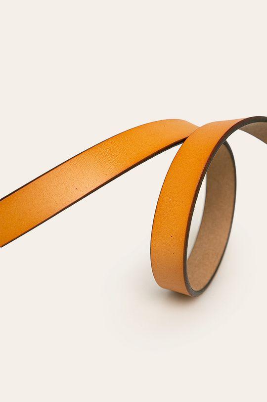 Answear - Curea de piele maro auriu