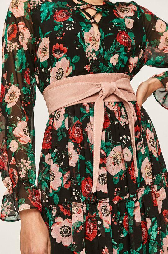 roz pastelat Answear - Curea de piele De femei