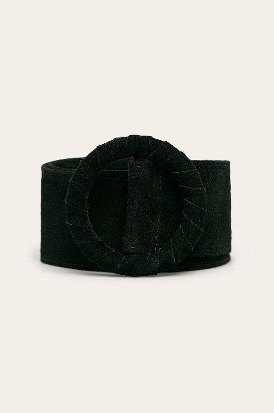 negru Answear - Curea de piele De femei