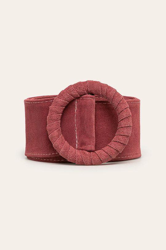 roz Answear - Curea de piele De femei