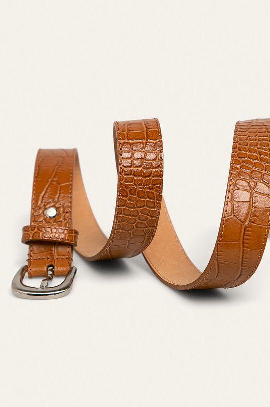 Answear - Kožený pásek zlatohnědá