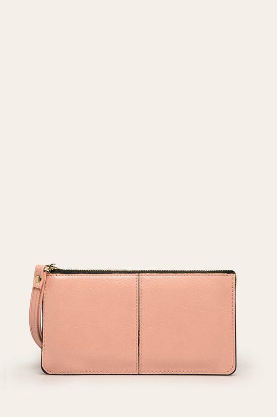 roz pastelat Answear - Portofel de piele De femei
