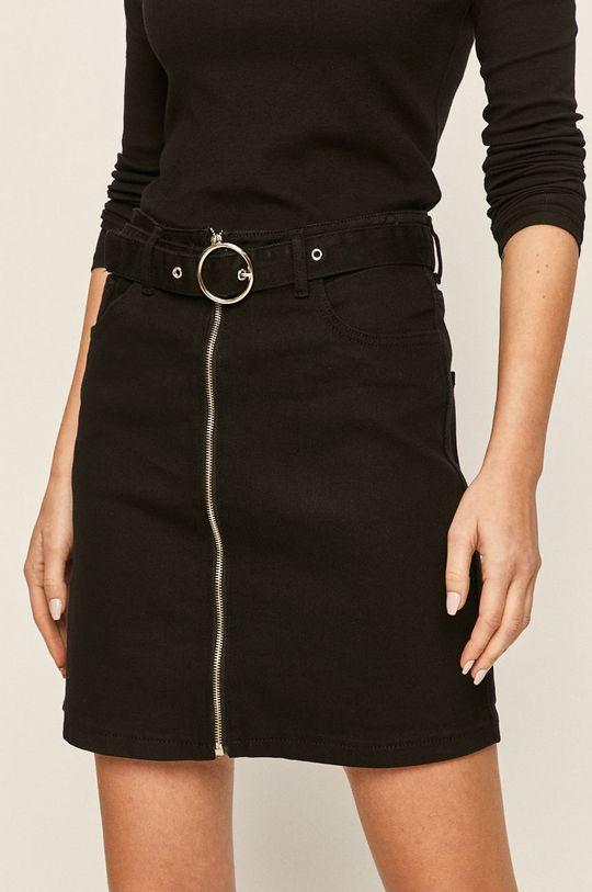 Answear - Fusta jeans negru