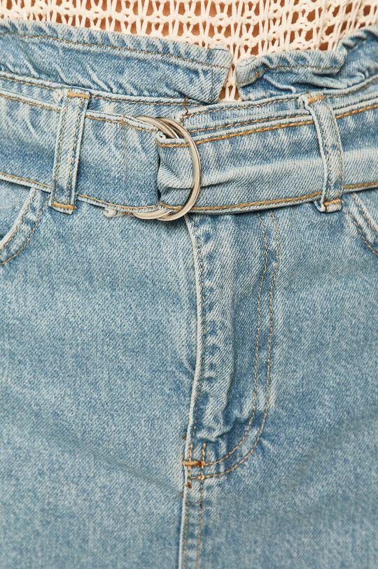 modrá Answear - Rifľová sukňa
