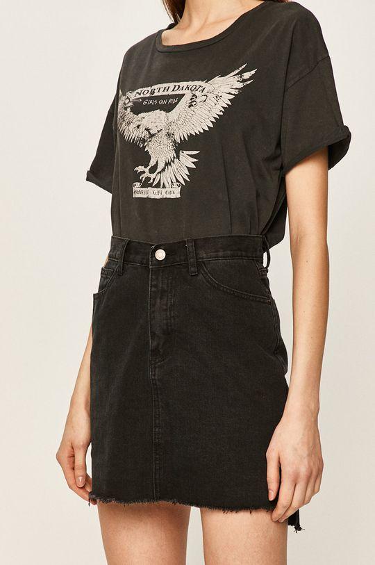 czarny Answear - Spódnica jeansowa Damski