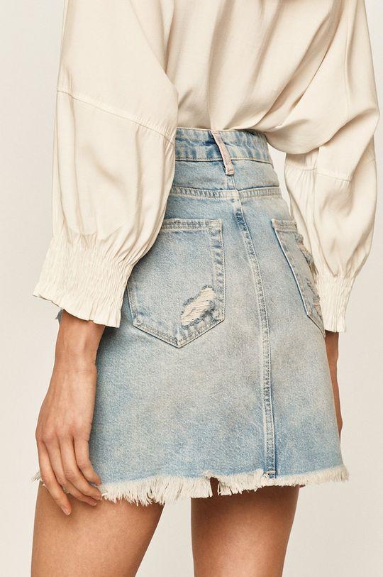 Answear - Rifľová sukňa  98% Bavlna, 2% Elastan