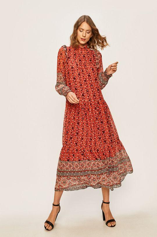 ružová Answear - Šaty Dámsky