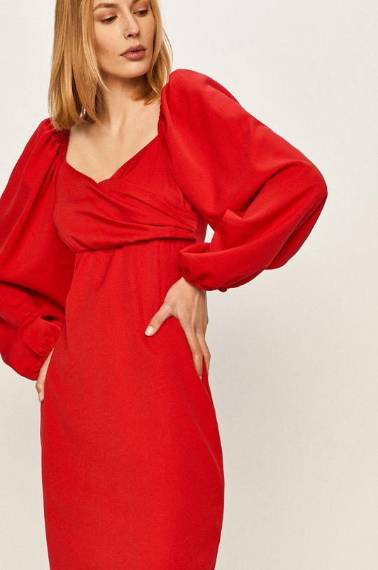 czerwony Answear - Sukienka Damski